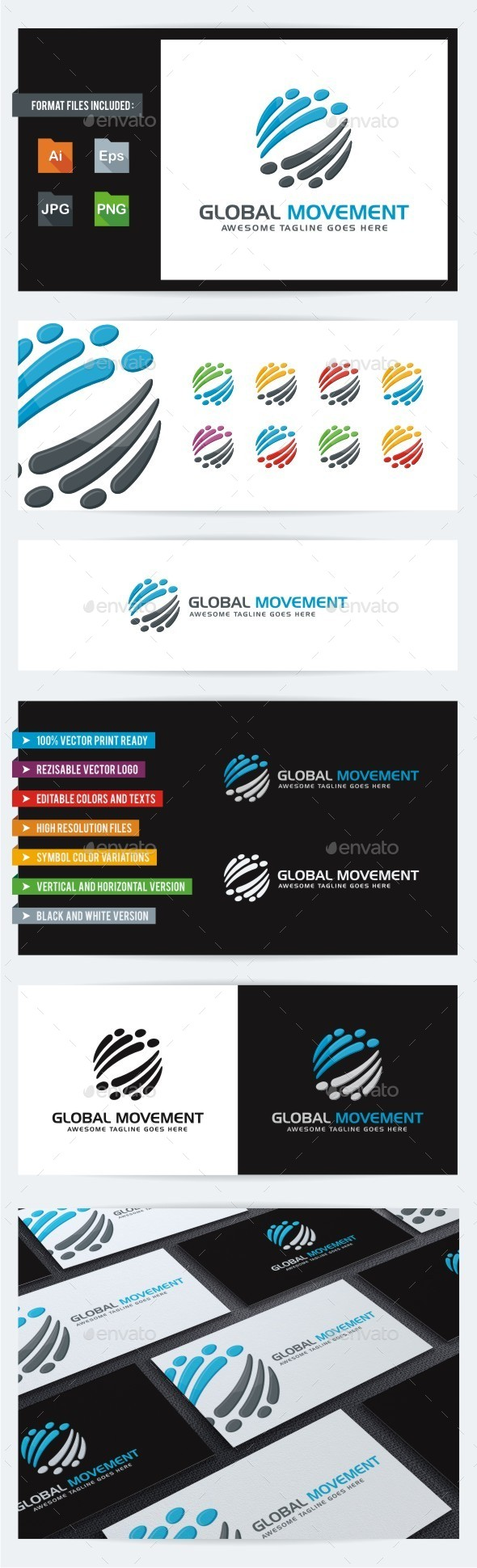 Global Movement - Vector Abstract