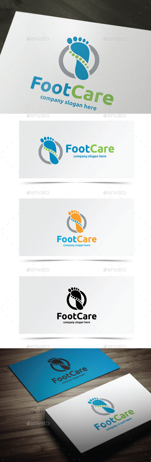 Foot Care - Objects Logo Templates