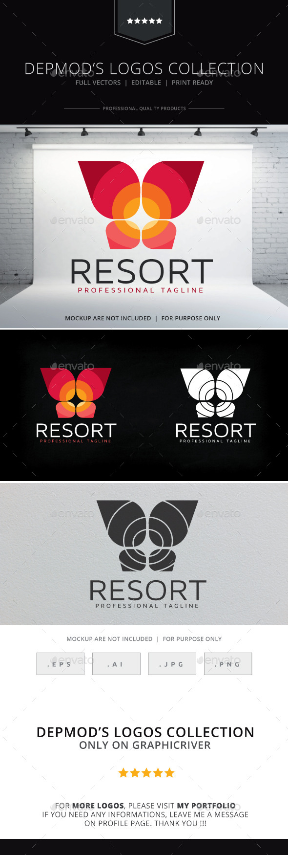 Resort Logo - Abstract Logo Templates