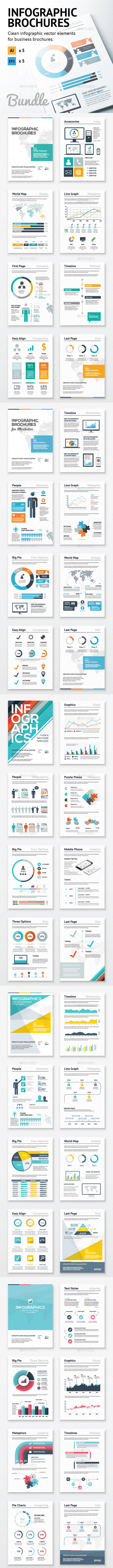 Infographic Brochure Elements Bundle - Infographics