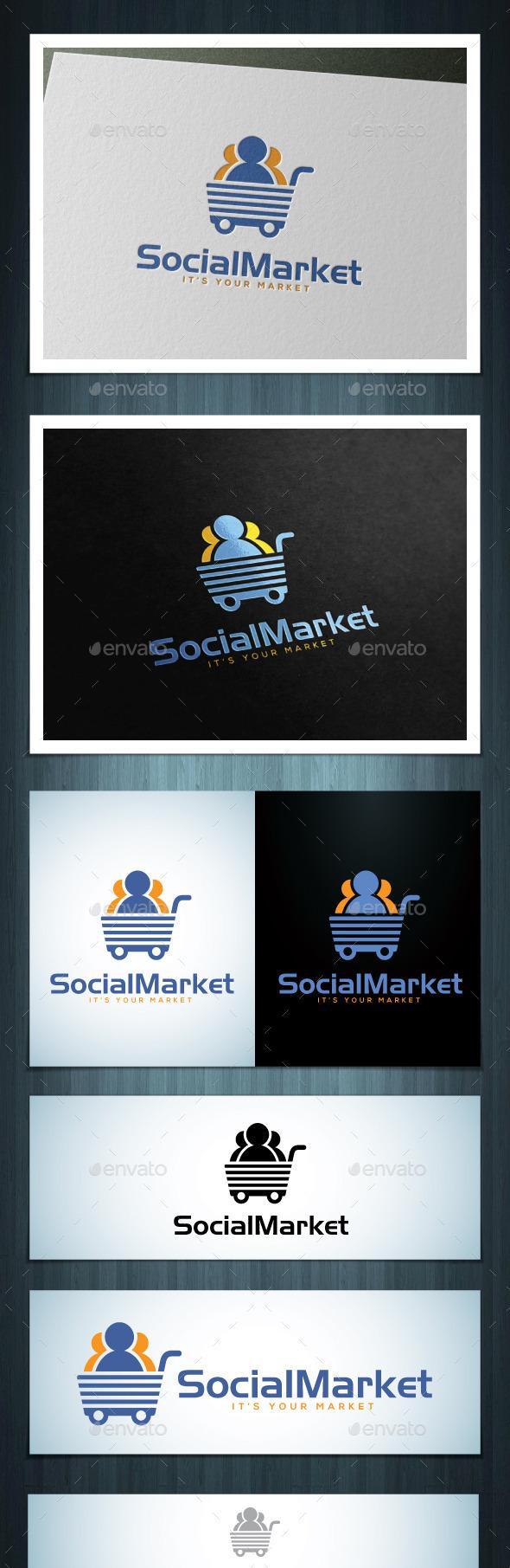 Social Market - Vector Abstract