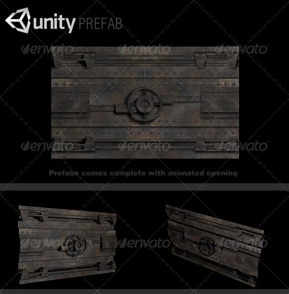 Vault Door Prefab - 3DOcean Item for Sale
