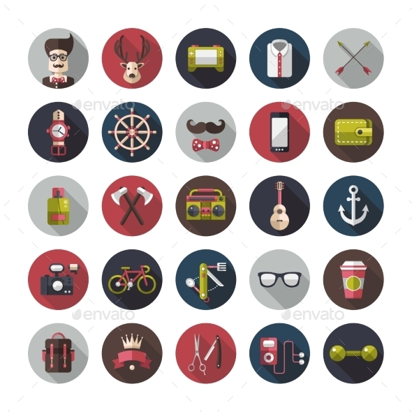 Hipster Icons  - Miscellaneous Vectors