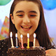 Young Girl Enjoying Birthday Cake - VideoHive Item for Sale