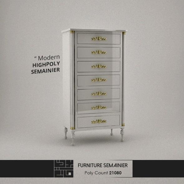 Furniture Semainier 3d Model - 3DOcean Item for Sale