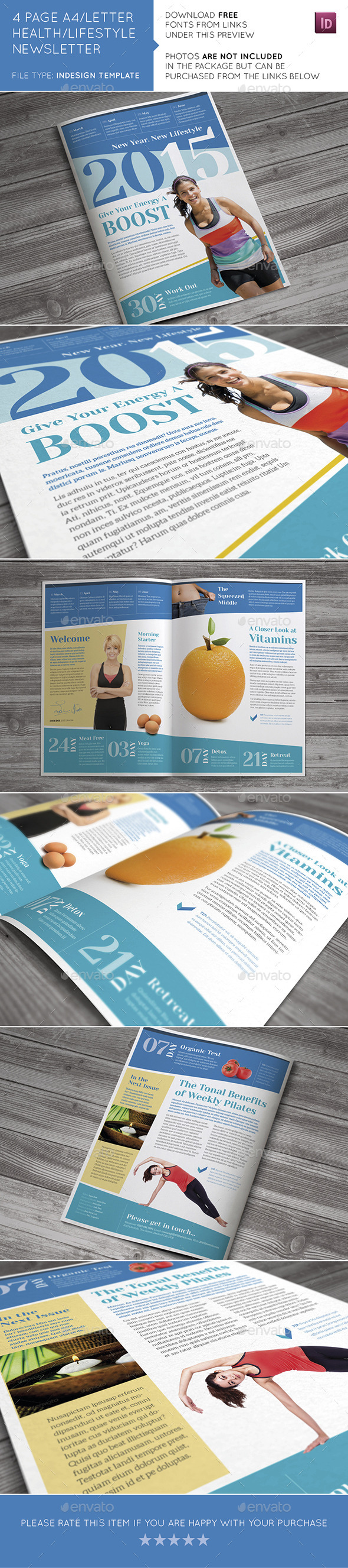 Health / Lifestyle Newsletter - Newsletters Print Templates