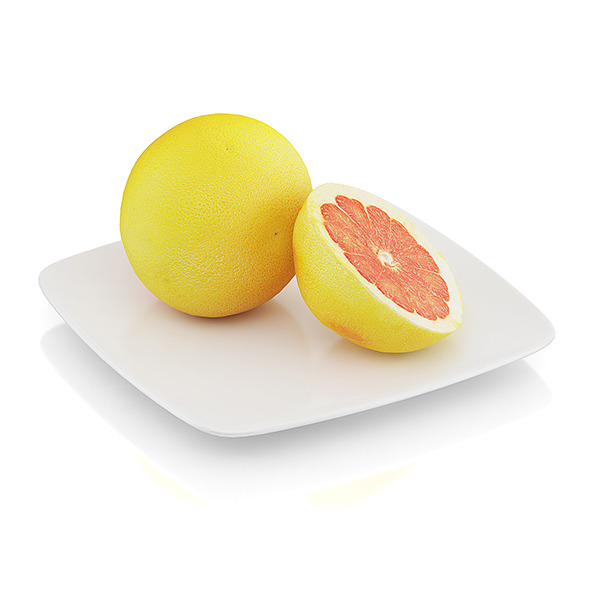 Halved grapefruit - 3DOcean Item for Sale