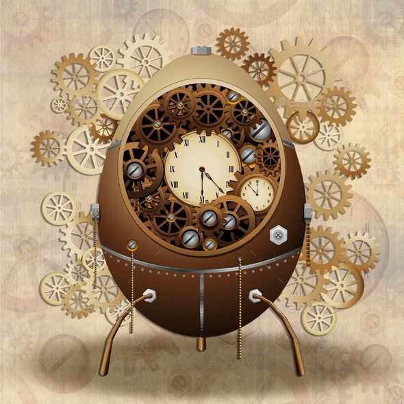 Steampunk Easter Egg - Seasons/Holidays Conceptual
