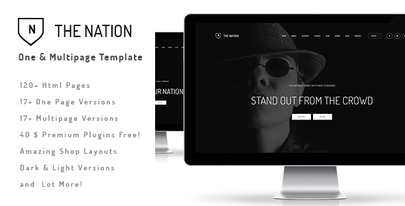The Nation - Responsive One / Multi Page Template - Portfolio Creative