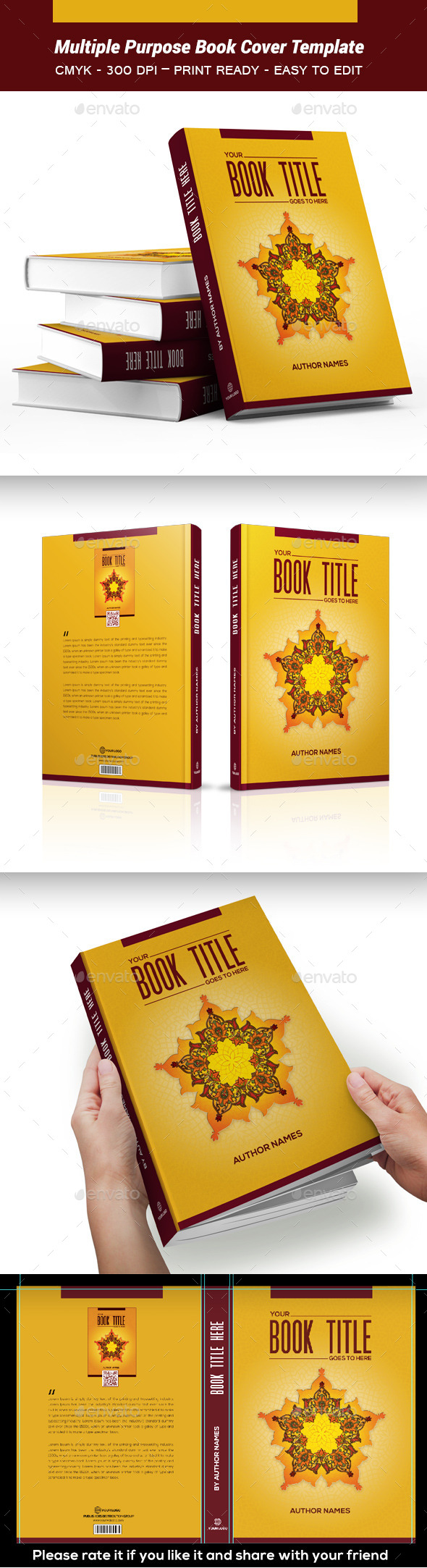 Multiple Purpose Book Cover Template 03 - Print Templates