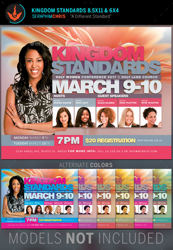 Kingdom Standards Women's Conference Flyer Template - Church Flyers
