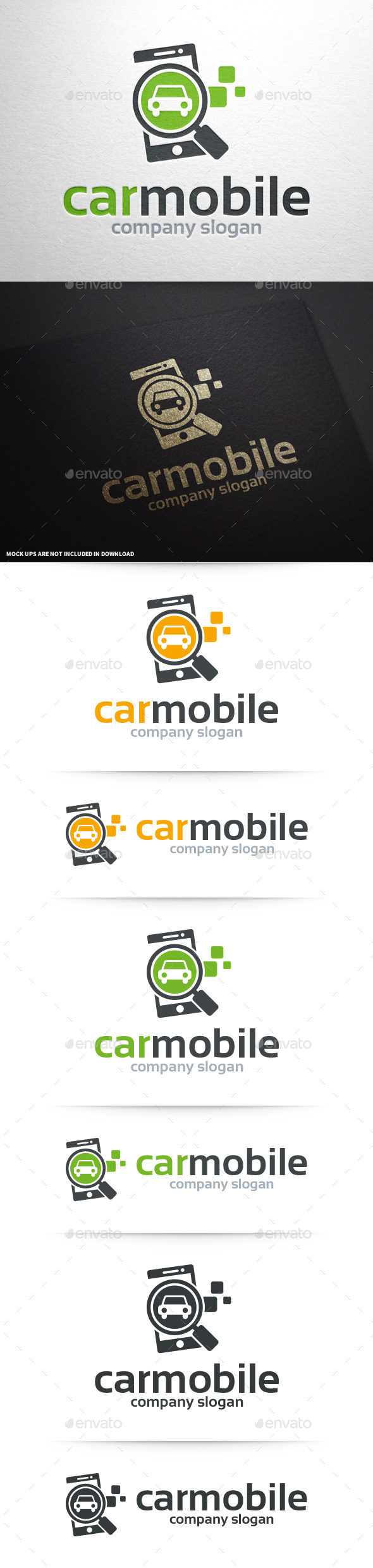 Car Mobile Logo Template - Objects Logo Templates