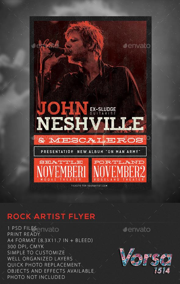 Rock Artist flyer - Concerts Events