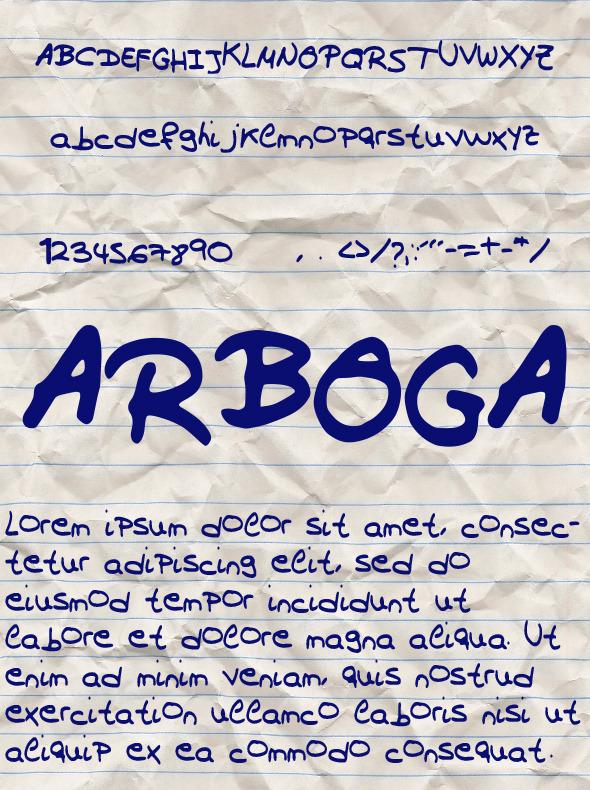 Arboga Font - Handwriting Fonts