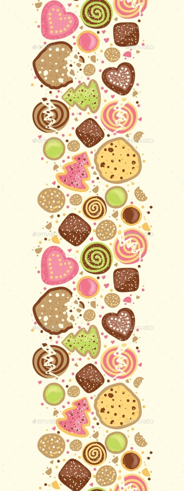 Cookie Vertical Pattern  - Birthdays Seasons/Holidays