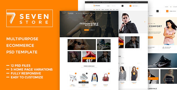 Seven Store  – Ecommerce PSD Template