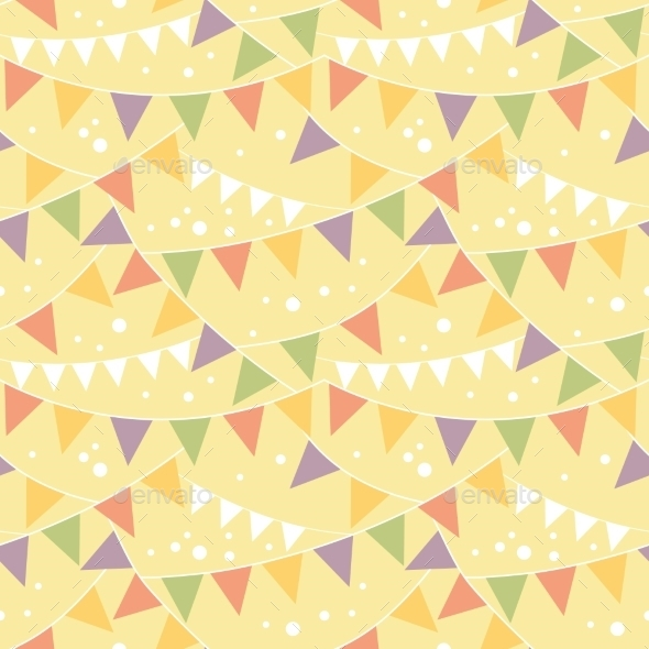 Bunting Pattern  - Birthdays Seasons/Holidays