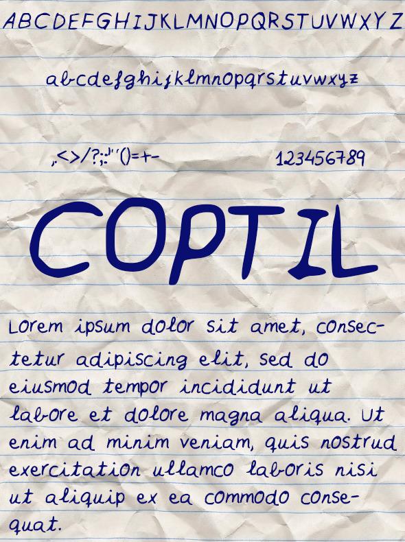 Coptil Font - Handwriting Fonts