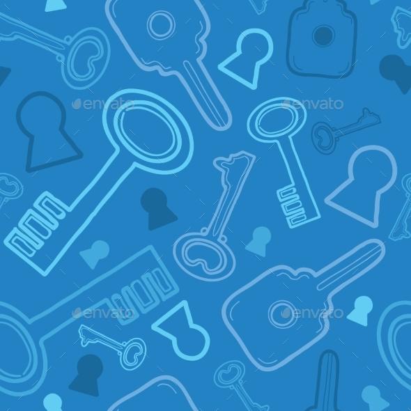 Key Pattern  - Decorative Symbols Decorative