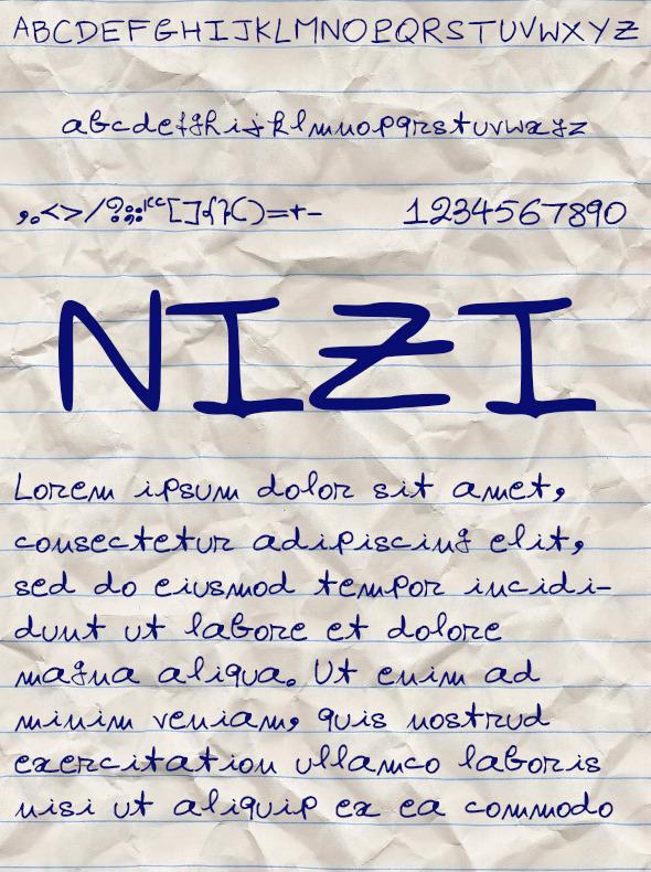 Nizi Font - Handwriting Fonts