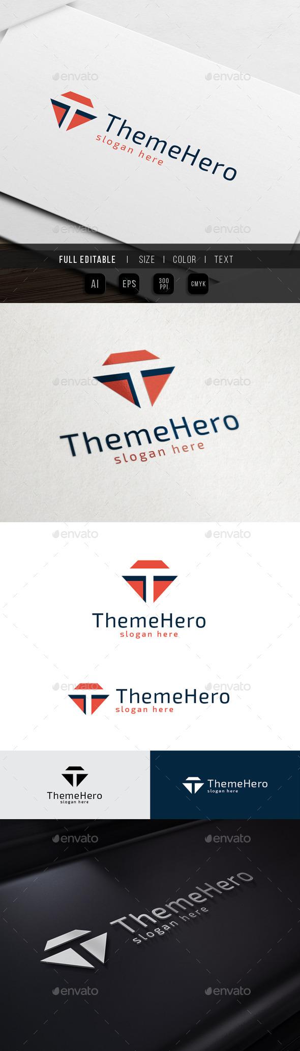 Theme Hero - Letter T - Letters Logo Templates