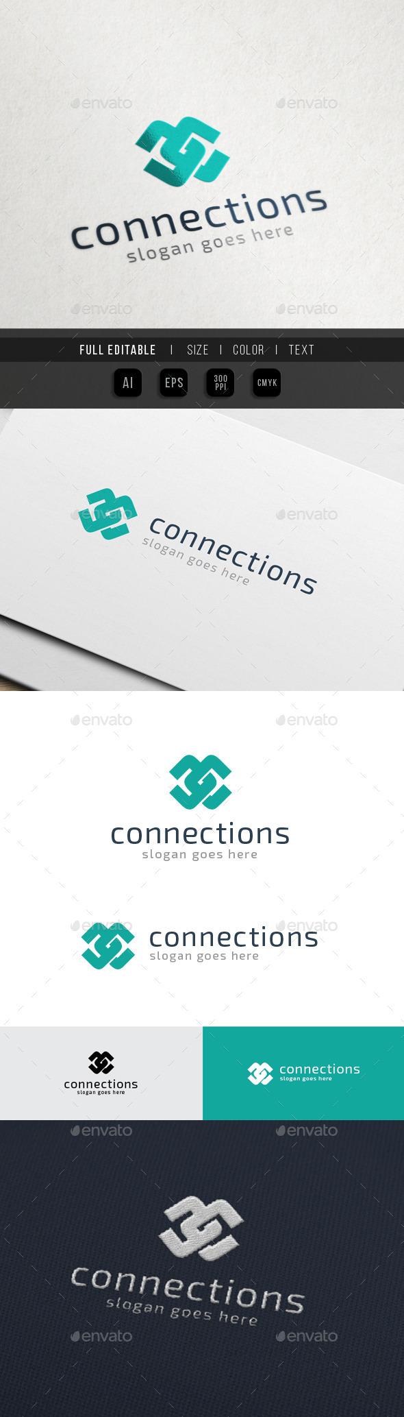 Content Connect - Letter C / CC - Letters Logo Templates