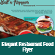 Elegant Restaurant Food Flyer Template - GraphicRiver Item for Sale
