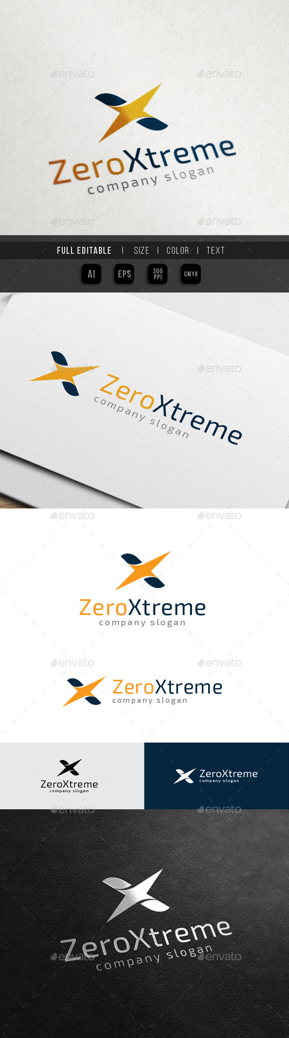 Xtreme Z Game - Extreme Sport - Letters Logo Templates