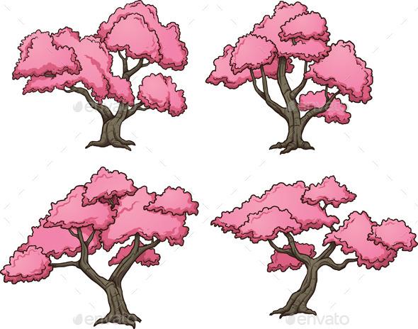 Sakura Trees - Flowers & Plants Nature