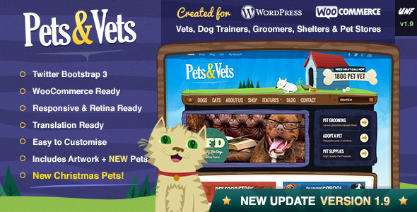 Pets & Vets – WordPress & WooCommerce
