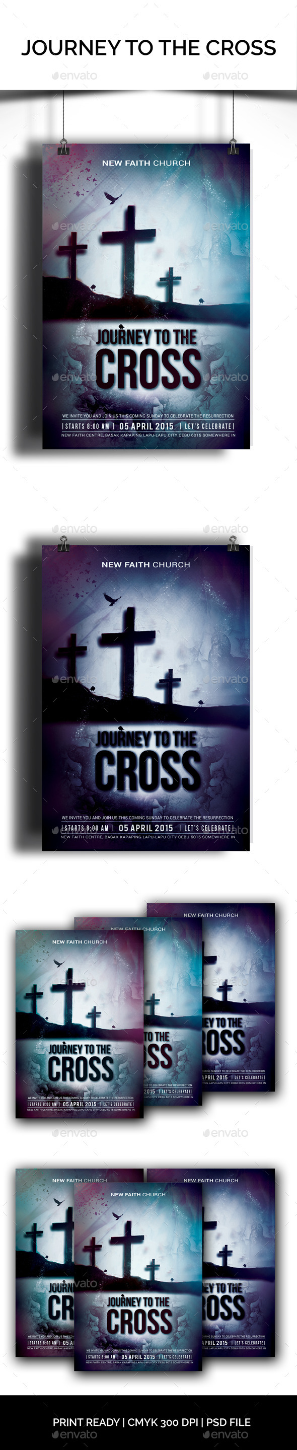 Journey To The Cross - Church Flyers
