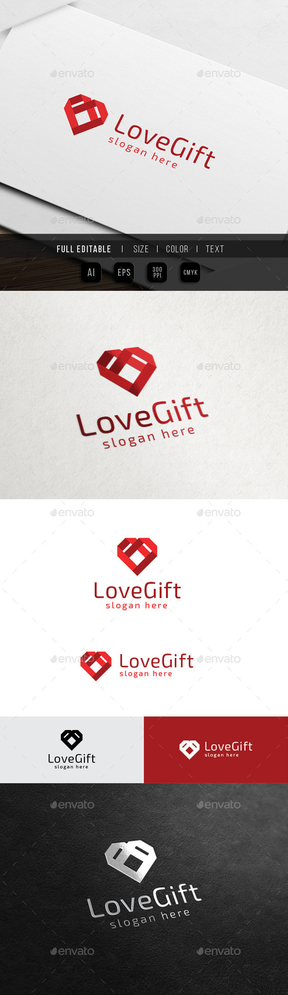 Love Gift - Relationship - Symbols Logo Templates