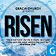 He Is Risen Church Flyer - GraphicRiver Item for Sale