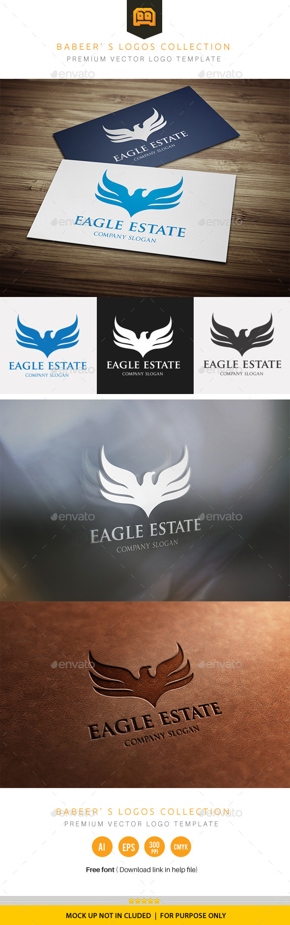 Eagle Estate - Animals Logo Templates