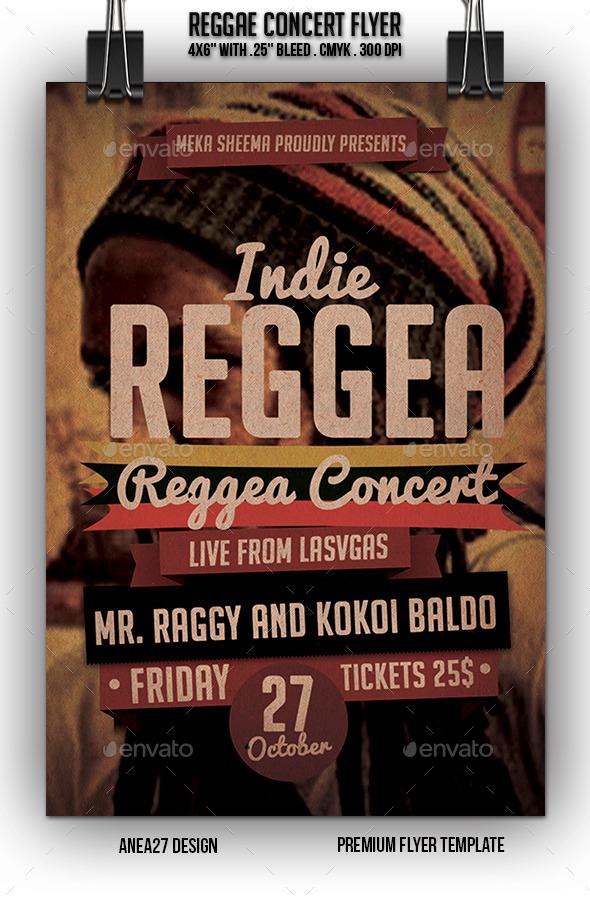 Reggae Concert Flyer - Flyers Print Templates