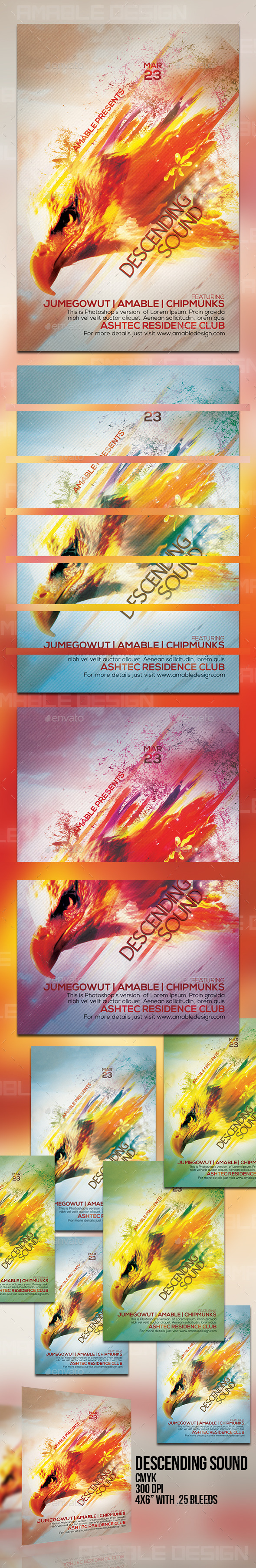 Descending Sounds Flyer - Clubs & Parties Events