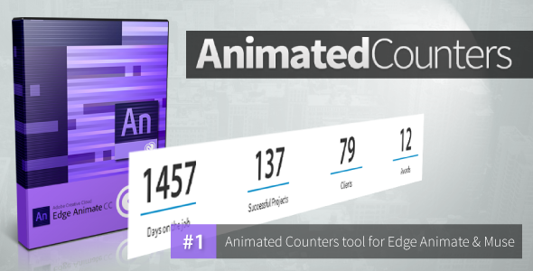 Animated Counters - Edge Animate Collection - CodeCanyon Item for Sale