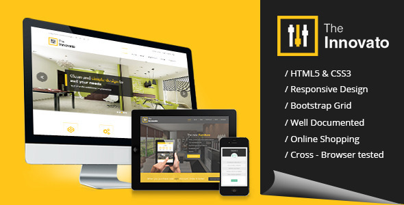 Innovato Professional HTML5 Template - Corporate Site Templates