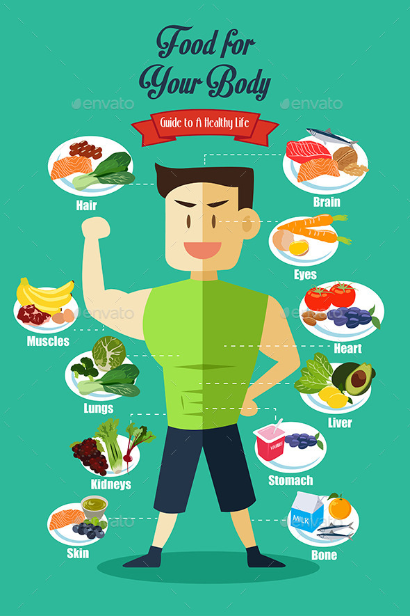 Infographic of Healthy Food - Health/Medicine Conceptual