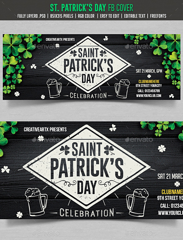 St. Patrick's Day FB cover - Facebook Timeline Covers Social Media