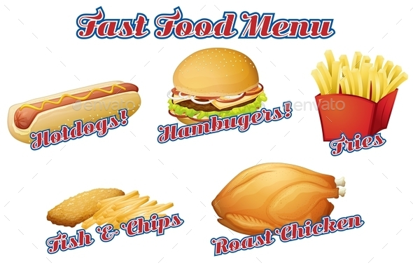 Menu - Food Objects