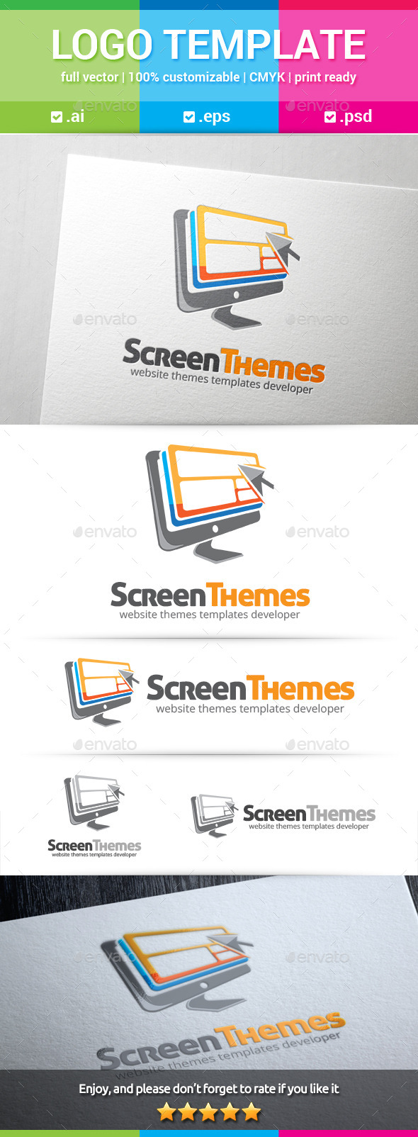 Screen Theme Logo - Objects Logo Templates