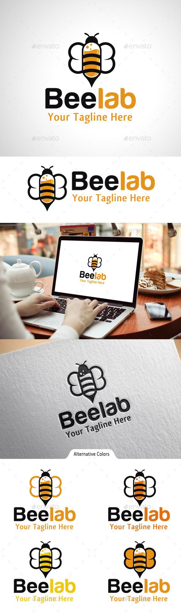 Bee Lab Logo - Animals Logo Templates