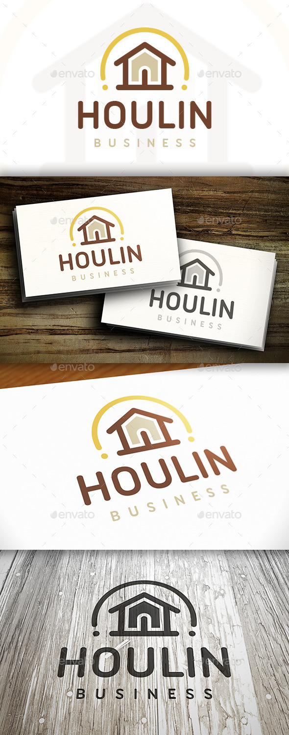 House Line Logo - Buildings Logo Templates