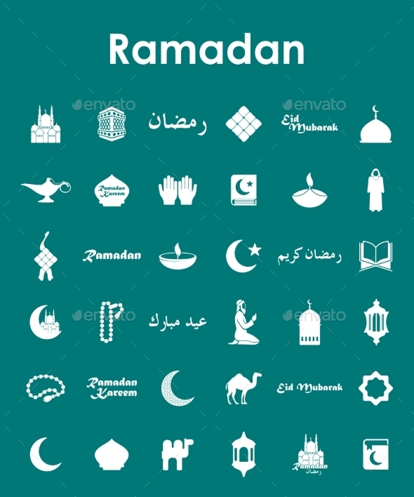 Set of Ramadan Icons - Religion Conceptual