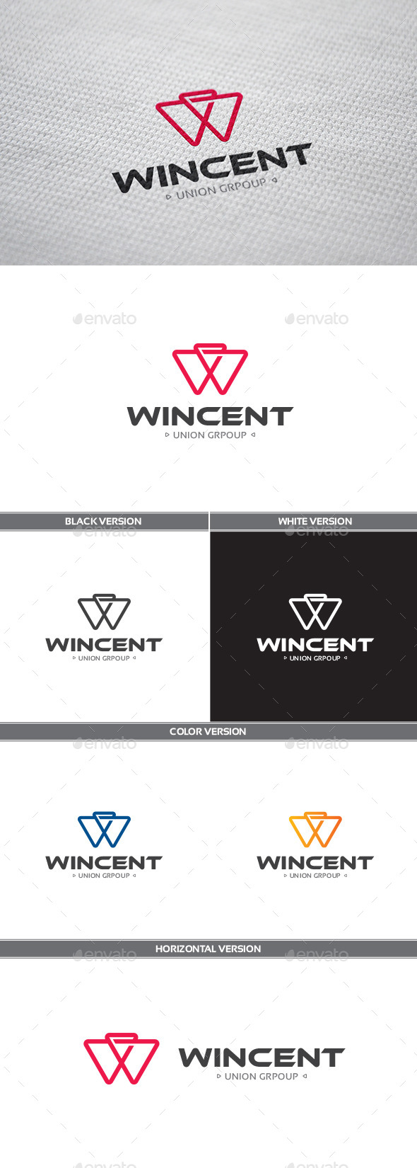 Wincent Logo - Letters Logo Templates