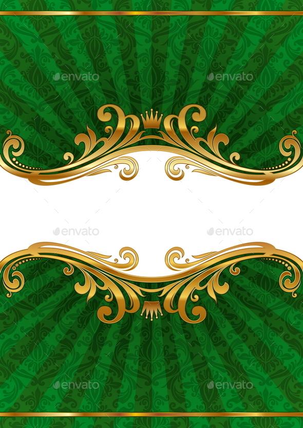 Luxury Ornate Golden Frame - Backgrounds Decorative