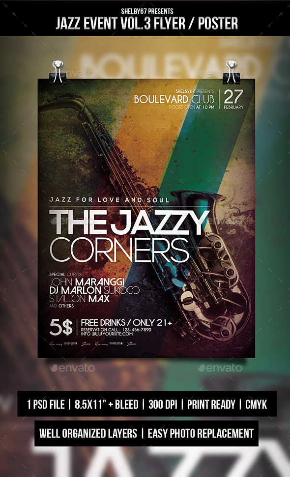 Jazz Event Flyer / Poster Vol.3 - Events Flyers