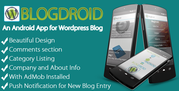 BlogDroid - Premium Wordpress Blog App with Push - CodeCanyon Item for Sale