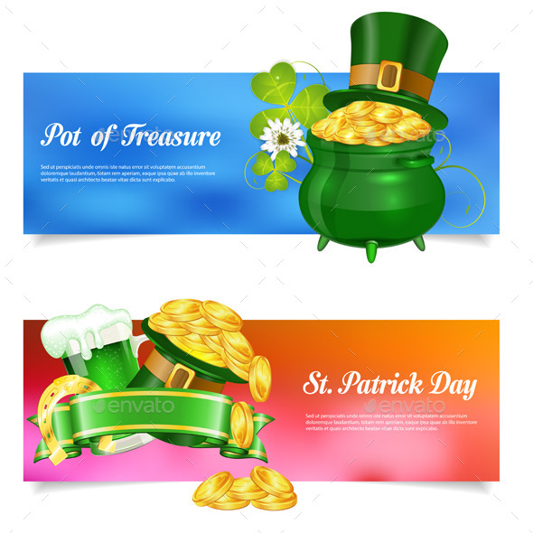 St. Patrick Day Banners - Miscellaneous Seasons/Holidays